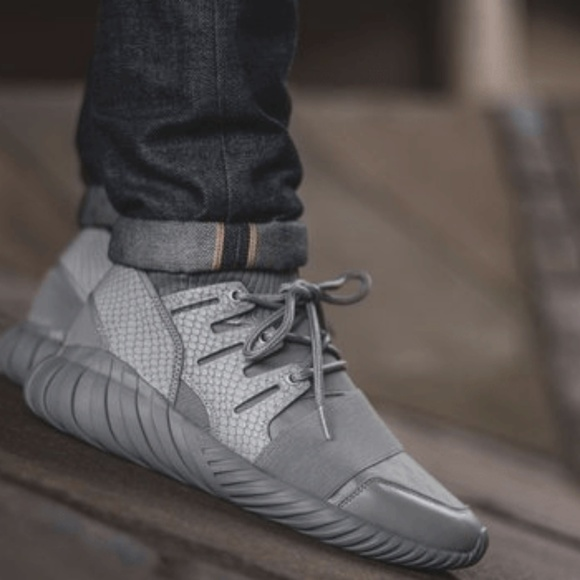 adidas Other - ADIDAS Gray Tubular Doom Luxe Sneakers M 6.5 W 8 777ca595533b